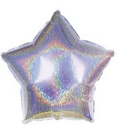 "4.5"" Airfill Silver Dazzleloon Star M147"