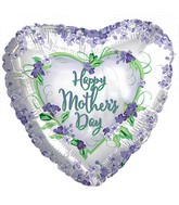 """17"""" Happy Mother's Day Violets and Greens Balloon"""