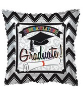 "17"" Grad Chevron Balloon"