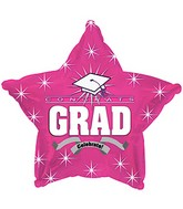 "18"" Congrats Grad Hot Pink Star"