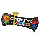 "22"" Bursting Stars Diploma Balloon"