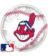 "9""  Airfill Baseball Cleveland Indians Balloon"