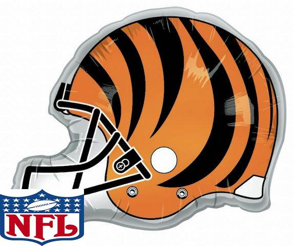 """26"""" Team Helmet Balloon Cincinnati Bengals"""