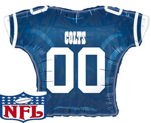 """23""""Foil Jersey Balloon Indianapolis Colts"""