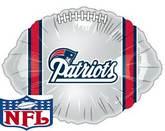 "9"" Airfill NFL New England Patriots Football Balloon"