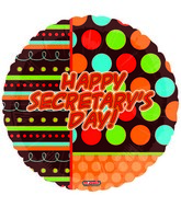 "18"" Happy Secratary's Day Dots"