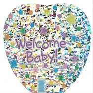 """9"""" Airfill Only Welcome Baby Stars Balloon"""