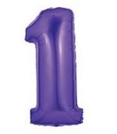 "40"" Large Number Balloon 1 Purple"