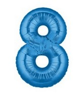 """40"""" Large Number Balloon 8 Blue"""