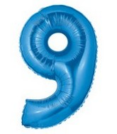 """40"""" Large Number Balloon 9 Blue"""