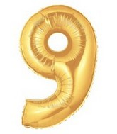 """40"""" Large Number Balloon 9 Gold"""