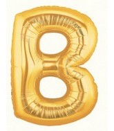 """40"""" Large Letter Balloon B Gold"""