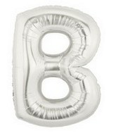 """40"""" Large Letter Balloon B Silver"""