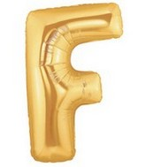 """40"""" Large Letter Balloon F Gold"""