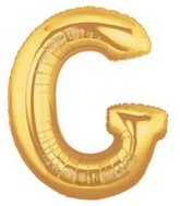 """40"""" Large Letter Balloon G Gold"""