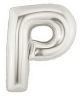 """40"""" Large Letter Balloon P Silver"""