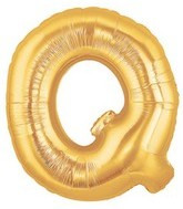 """40"""" Large Letter Balloon Q Gold"""