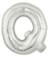 """40"""" Large Letter Balloon Q Silver"""