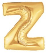 """40"""" Large Letter Balloon Z Gold"""