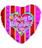 "18"" Happy Valentine's Day Stripes"