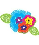 """40"""" Jumbo Bright Flowers Balloon"""