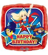 "18"" DC Super Hero Girls Happy Birthday Foil Balloon"