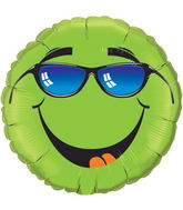 """18"""" Keep Cool! Lime Green Packaged Mylar Balloon"""