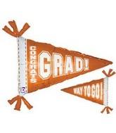 """31"""" Orange Congrats Grad Way to Go"""
