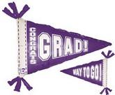 """31"""" Purple Pennant Balloon"""