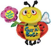 """38"""" Got A Bug Get Well Bee Mylar Balloon"""