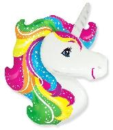 """41"""" Jumbo Mylar Unicorn Head Balloon"""