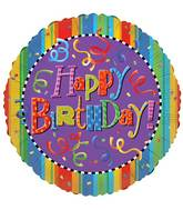 "30"" Happy Birthday Festive Balloon"