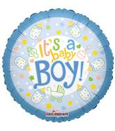 """4"""" Airfill Only Baby Bottle Boy Balloon"""
