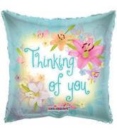 "18"" Thinking Of You Spring Flowers Balloon"
