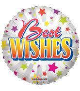 """18"""" Best Wishes Stars Balloon"""