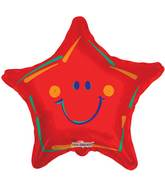 "18"" Red Smiley Star Balloon"