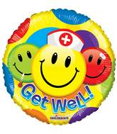 "9"" Airfill Only Get Well Smileys Balloon"