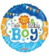 "4"" Airfill Only Baby Boy Jungle Gellibean Balloon"