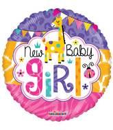 "4"" Airfill Only Baby Girl Jungle Gellibean Balloon"