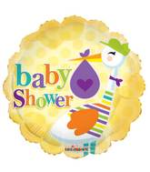 "18"" Baby Shower Stork Balloon"