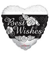 """18"""" Best Wishes Heart Balloon"""