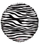 "18"" Decorator Zebra Print Balloon"