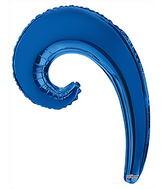 """14"""" Airfill Only Kurly Wave metallic  Blue Balloon"""