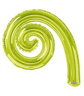"14"" Airfill Only Kurly Spiral Kiwi"