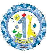 "18"" 1st Birthday Boy balloons"