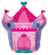 "28"" Pink Castle Shape balloons"