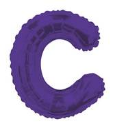 "14"" Airfill with Valve Only Letter C Purple Balloon"