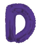 "14"" Airfill with Valve Only Letter D Purple Balloon"