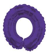 "14"" Airfill with Valve Only Letter O Purple Balloon"