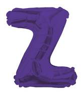 "14"" Airfill with Valve Only Letter Z Purple Balloon"